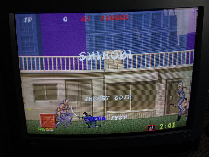 Shinobi, un clásico arcade de los miles que emula MAME